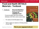 food and health details materials textbook