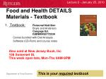 food and health details materials textbook1