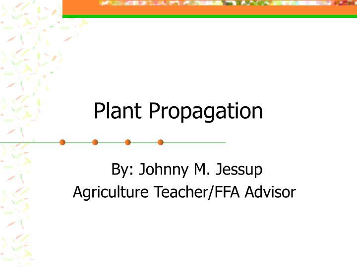 plant propagation n.