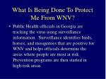 what is being done to protect me from wnv
