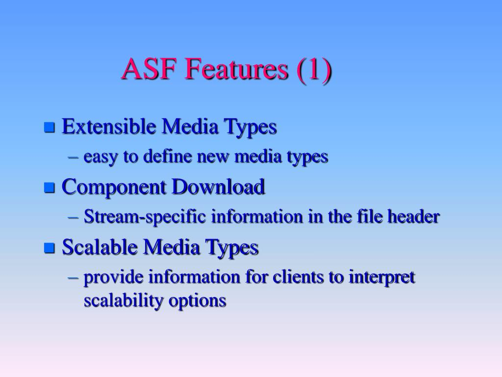 ASF Features (1)