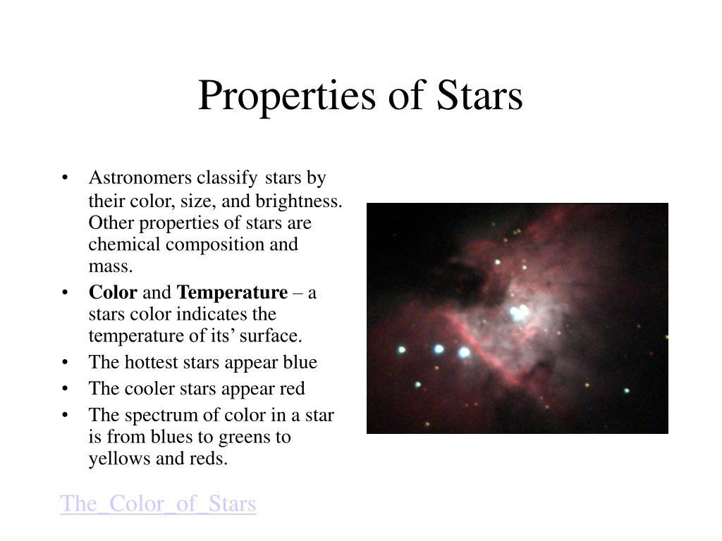 Properties of Stars