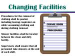 changing facilities