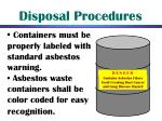 disposal procedures