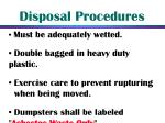 disposal procedures34