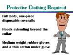 p rotective c lothing r equired