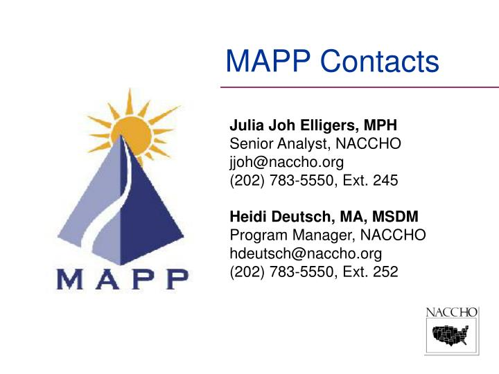 MAPP Contacts