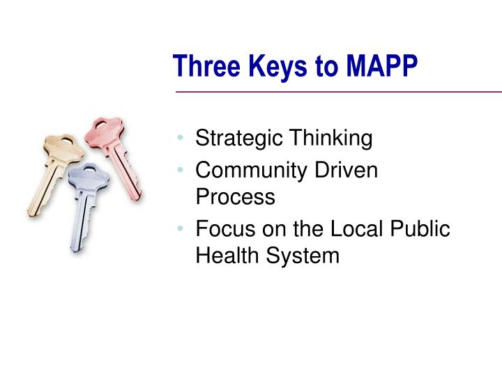 Three Keys to MAPP
