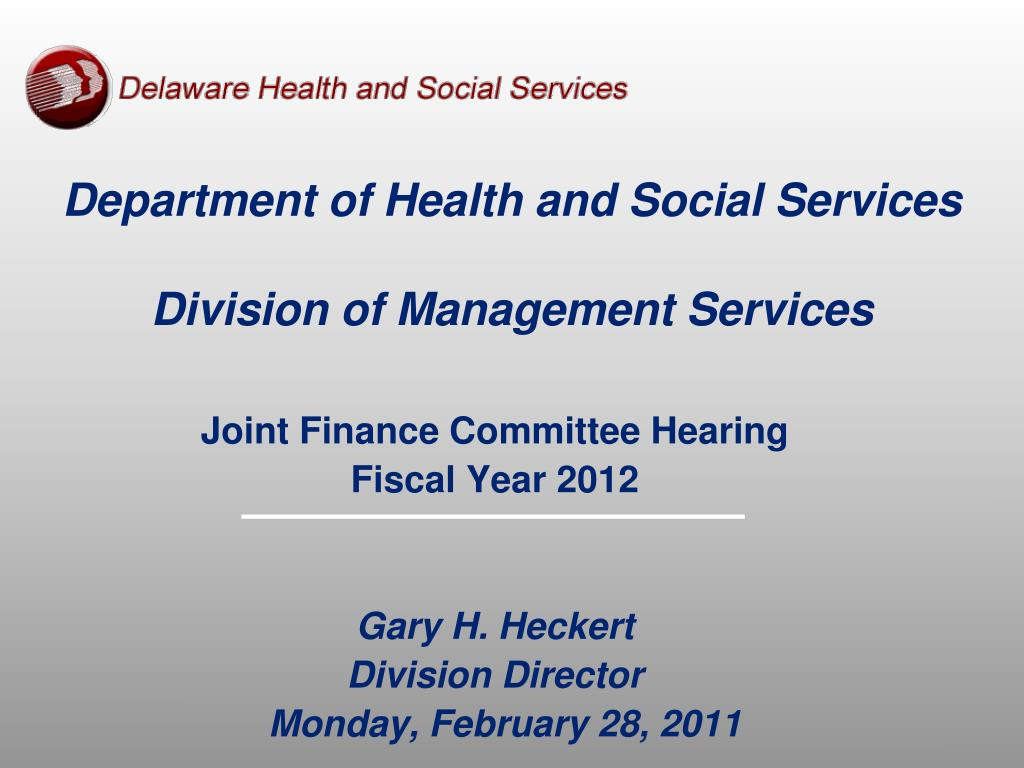 department of health and social services division of management services l.