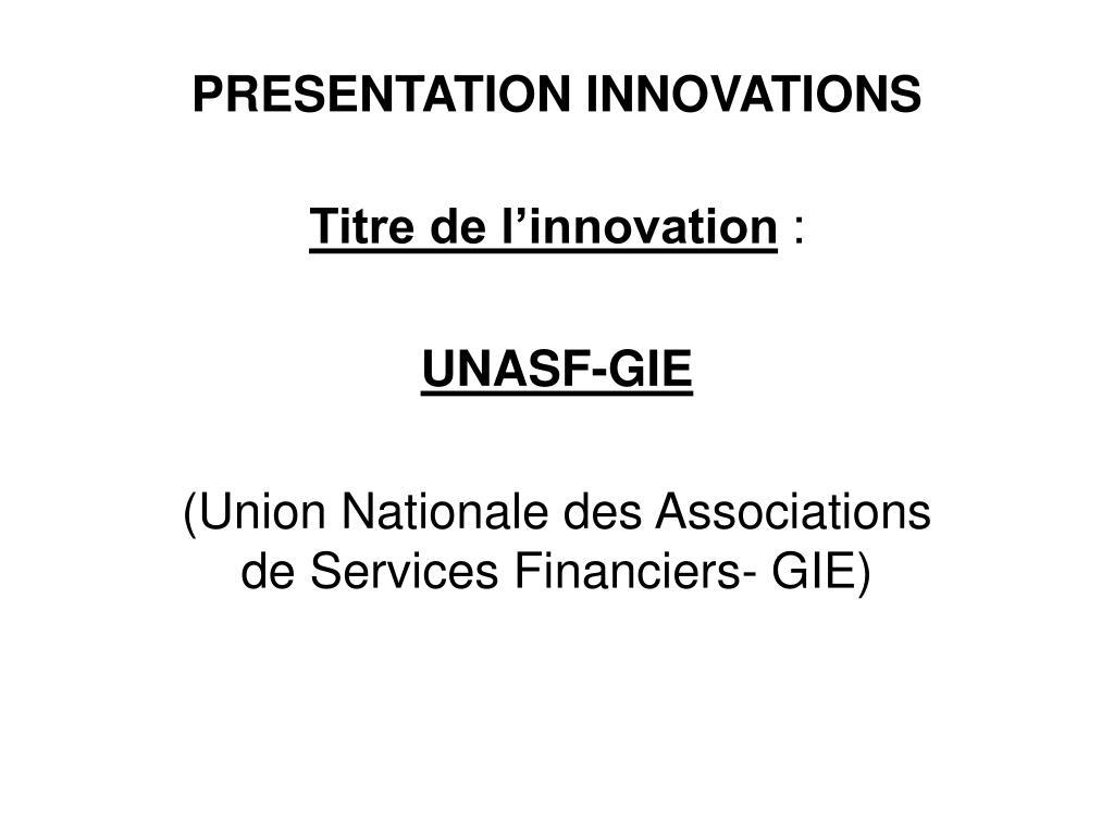 presentation innovations l.