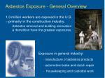 asbestos exposure general overview
