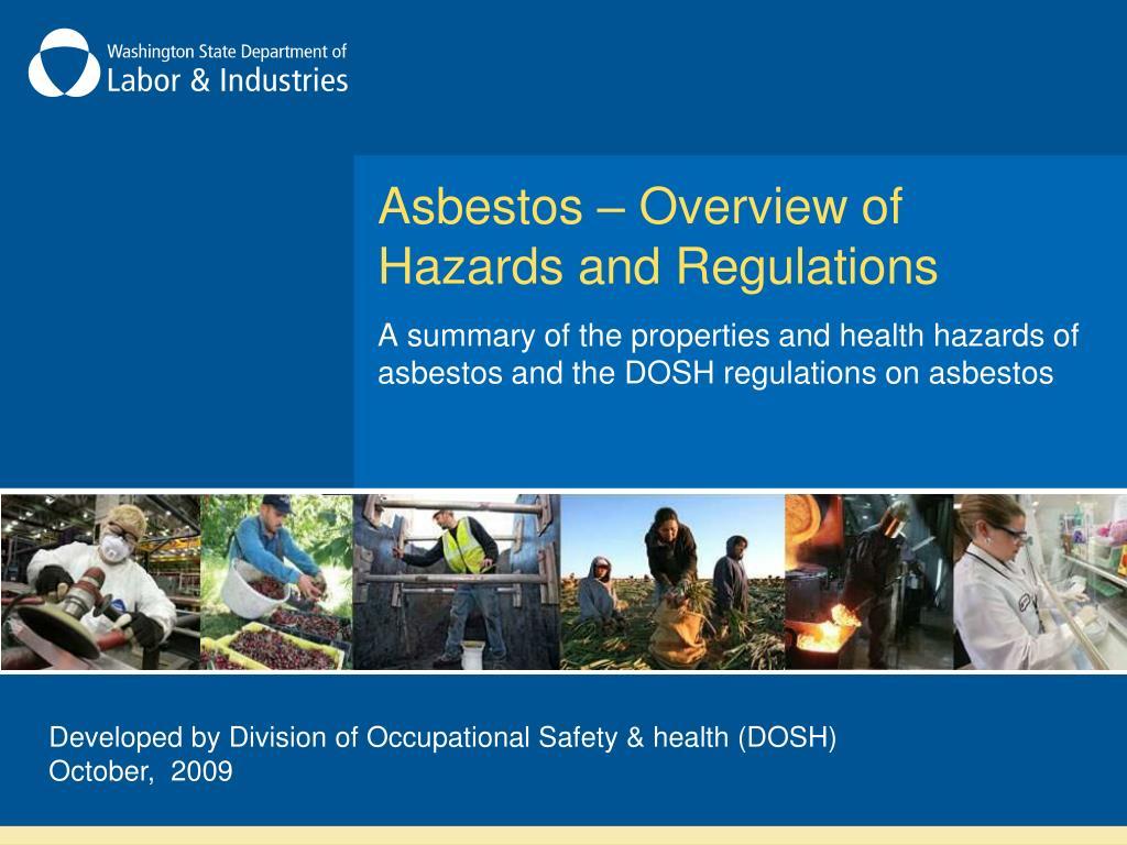 asbestos overview of hazards and regulations l.