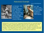 asbestosis example
