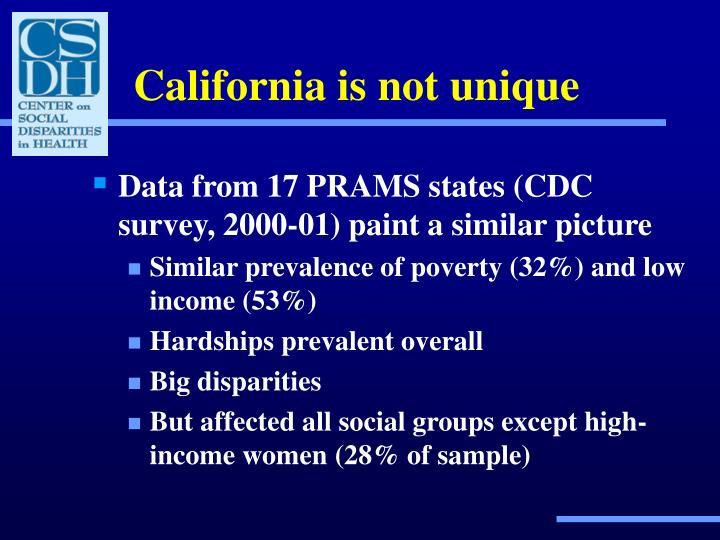California is not unique