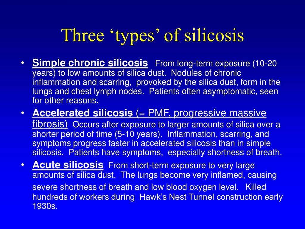 Three 'types' of silicosis