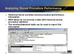 analyzing stored procedure performance