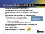 performance monitoring bmc db xray