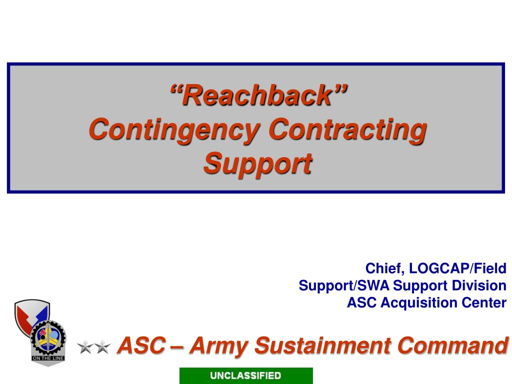reachback contingency contracting support l.