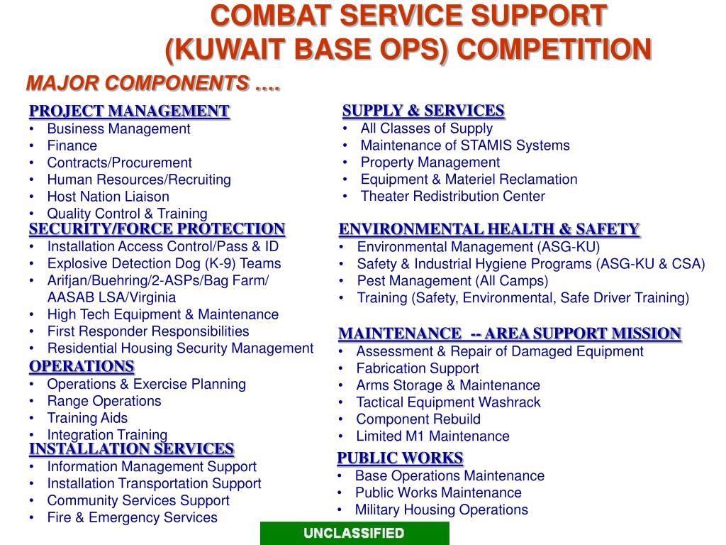 COMBAT SERVICE SUPPORT
