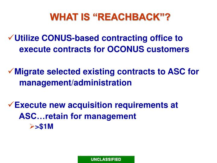 What is reachback