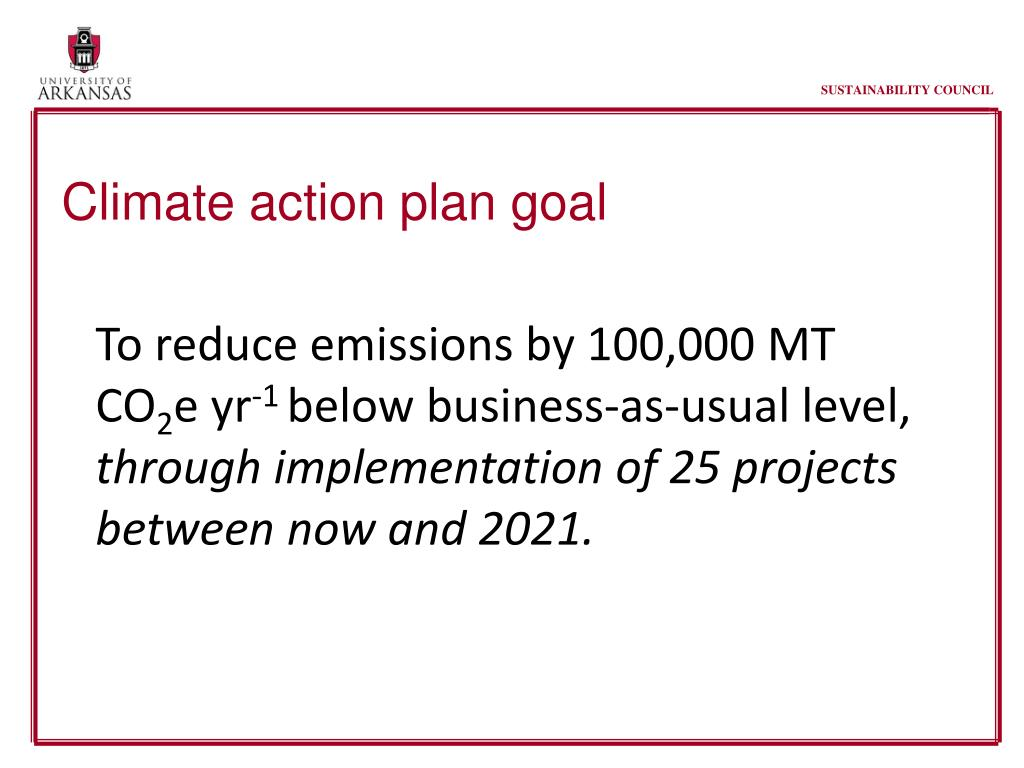 Climate action plan goal