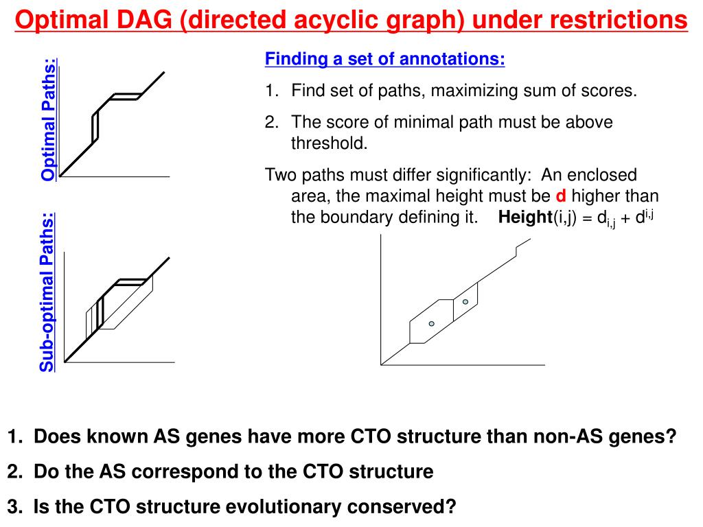 Optimal DAG (directed acyclic graph) under restrictions