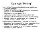 coal ash mining