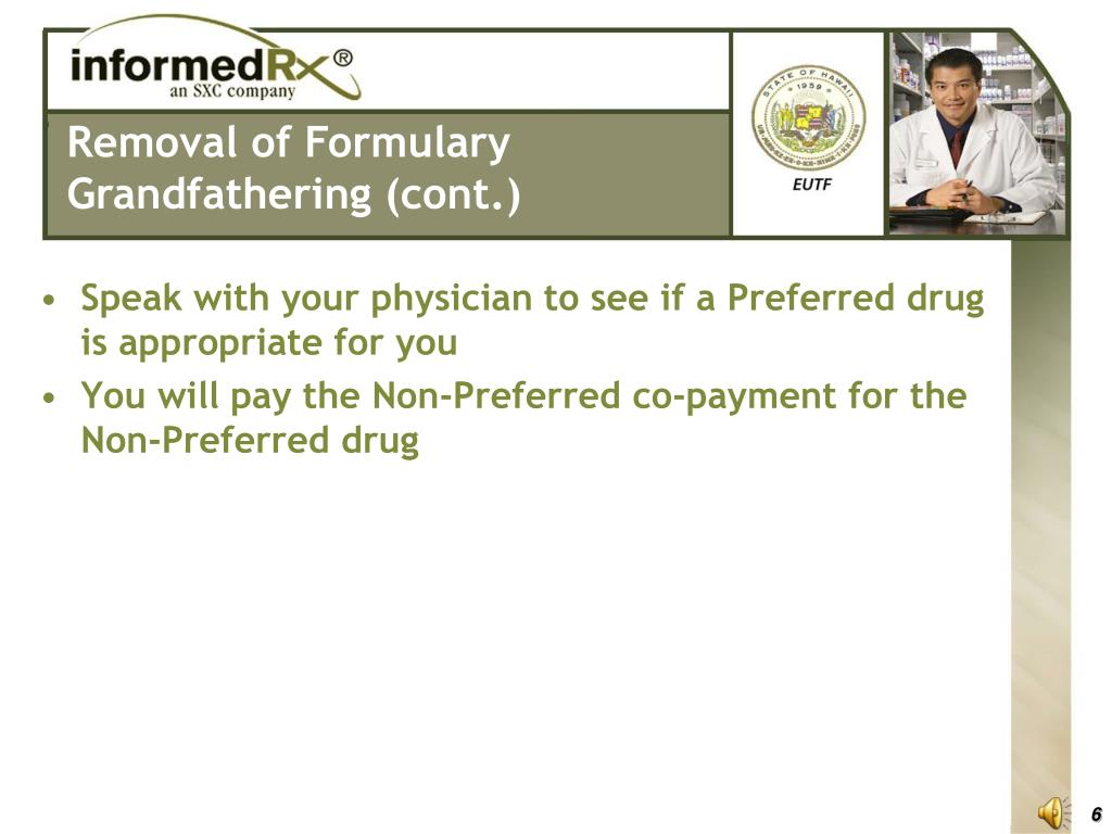 Speak with your physician to see if a Preferred drug is appropriate for you