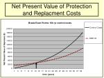 net present value of protection and replacment costs29