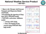national weather service product vaftad