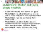 outcomes for children and young people in norfolk