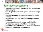 teenage conceptions
