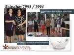 activities 1993 1994