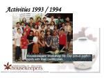 activities 1993 19942