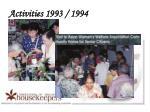 activities 1993 19943