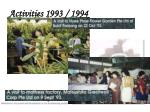 activities 1993 19944