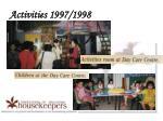 activities 1997 19984