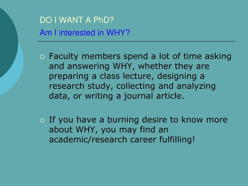 do i want to do a phd