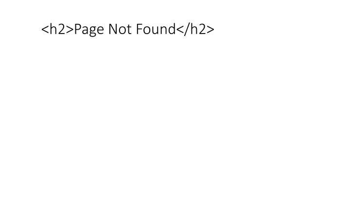 H2 page not found h2