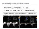 pulmonary vascular resistance