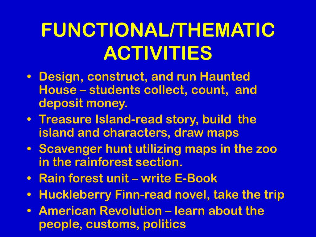 FUNCTIONAL/THEMATIC