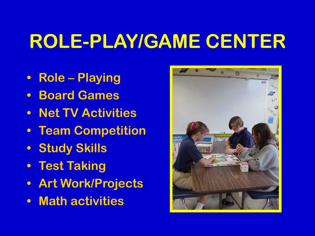 ROLE-PLAY/GAME CENTER
