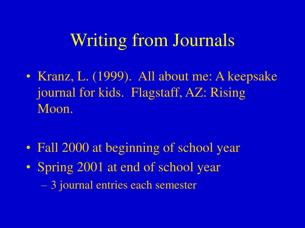 Writing from Journals