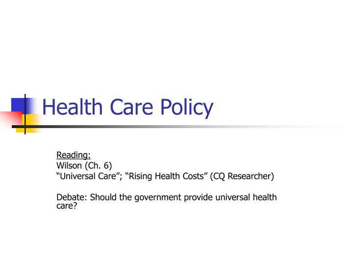 health care policy n.