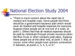 national election study 2004