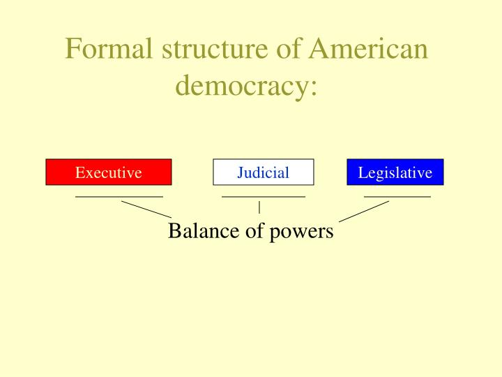 Formal structure of american democracy