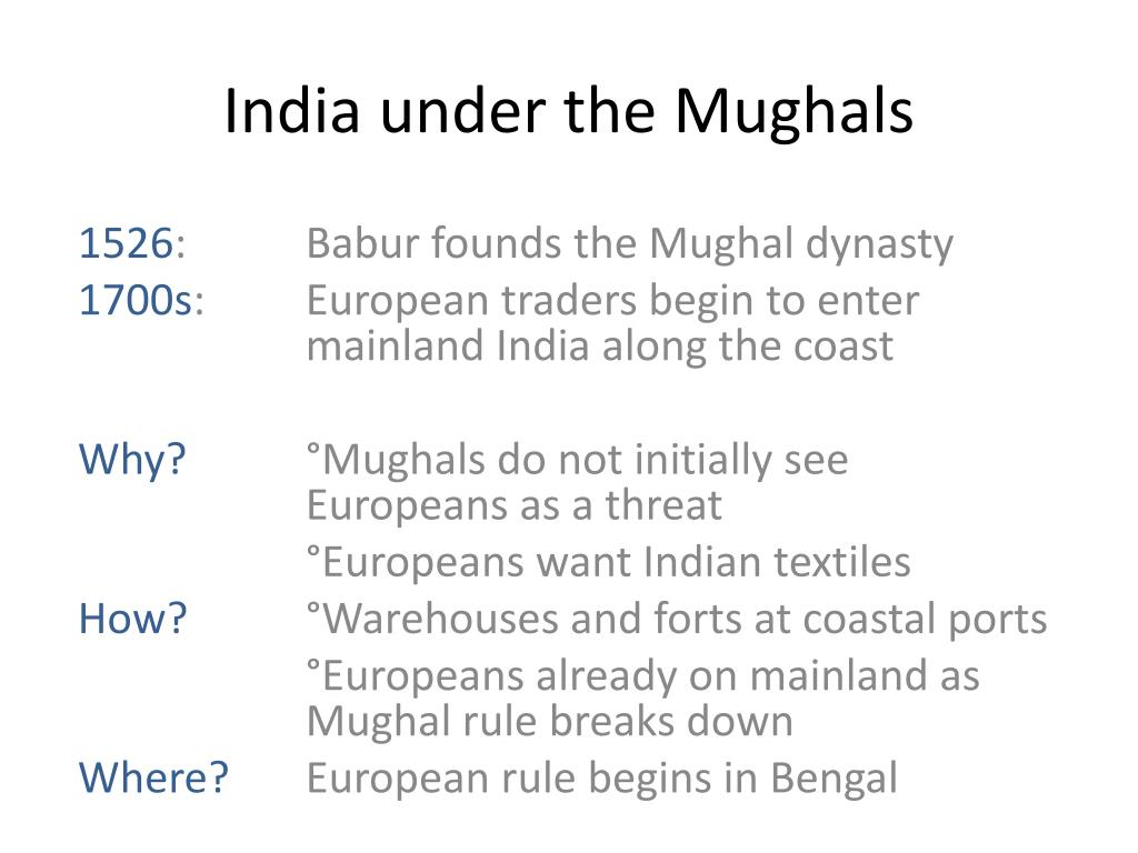 India under the Mughals