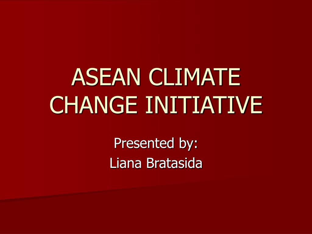 asean climate change initiative l.