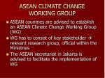 asean climate change working group