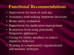 functional recommendations